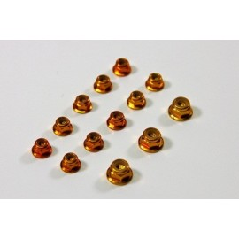 Alu Nut Set gold (13 pcs) 1:8 Comp.