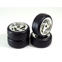 "Wheel Set Onroad ""Ronin"" Slick chrome 1:10 (4)"