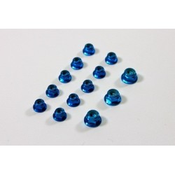 Alu Nut Set blue (13 pcs) 1:8 Comp.