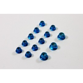 TEAM C TU0860B Alu Nut Set blue (13) 1:8 Comp.