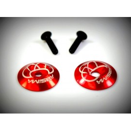 Rear wing Alu. Washer, red (2)